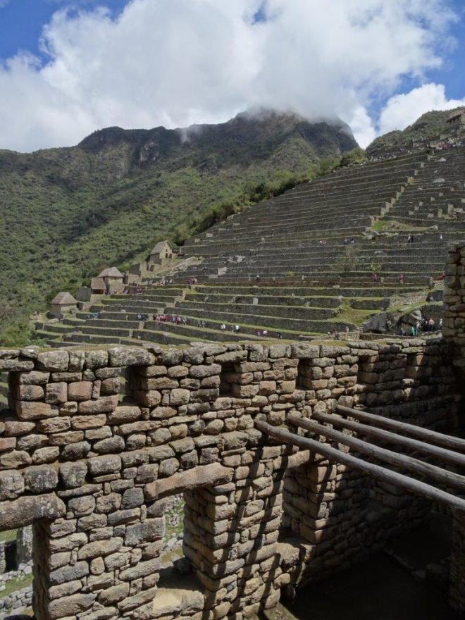 House and terraces in Machu Picchu, Peru.