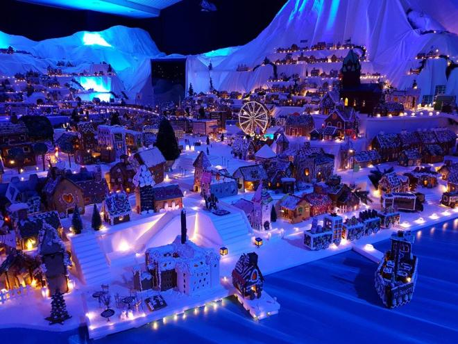 Nordnes in Bergen in the worlds largest Gingerbread Town in Bergen, Norway