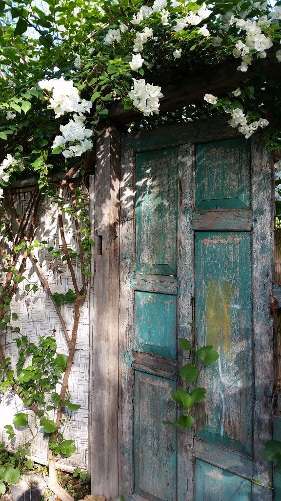 Nice door. Gili Meno island, Indonesia