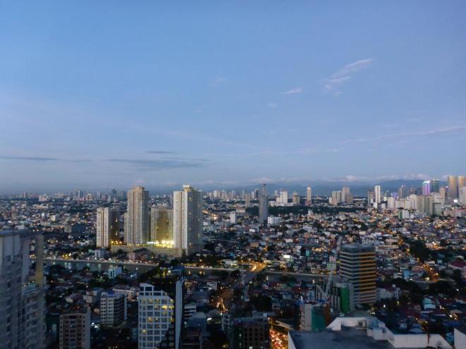 Dusk in in Manila, Philippines