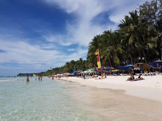The beach in Boracay island. The Philippines