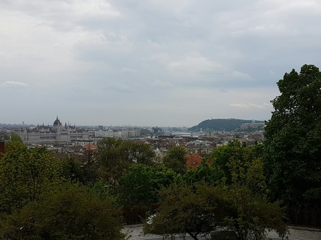 Beautiful view from Rose Hill. Taste Hungary food tour. Budapest, Hungary.