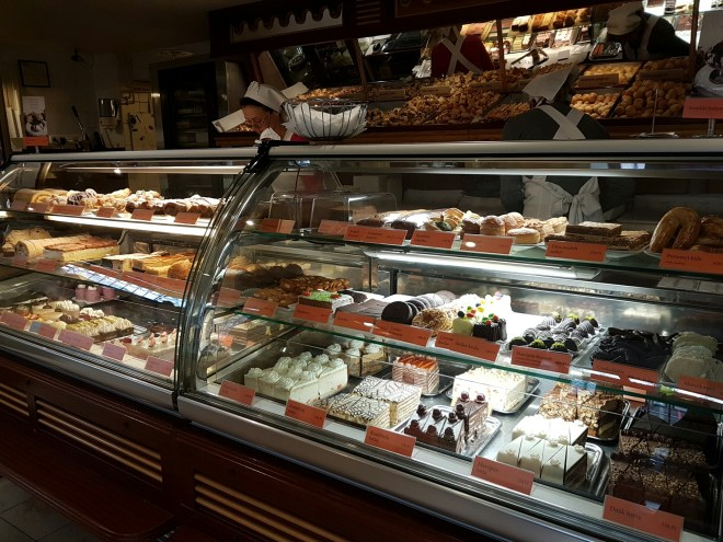 How is it possible too choose from these. At Auguszt pastry shop. Taste Hungary food tour. Budapest, Hungary.