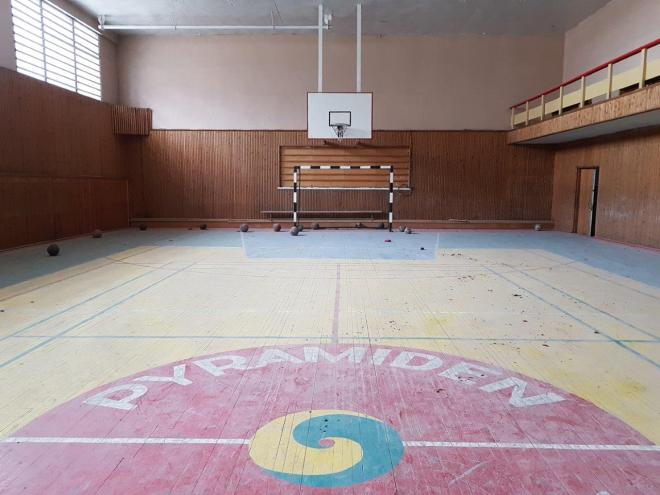 The sport hall in the cultural center. Pyramiden. Svalbard. Spitsbergen. Norway