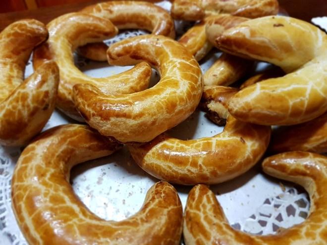 Bratislavské rožky - Bratislava rolls - traditional pastry filled with poppy seeds or wallnuts. Food tour in Bratislava, Slovakia.