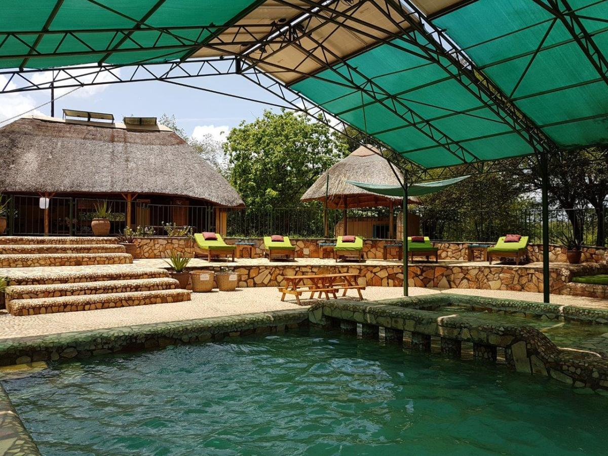 The pool area at Murchison River Lodge. Murchison Falls in Uganda Africa