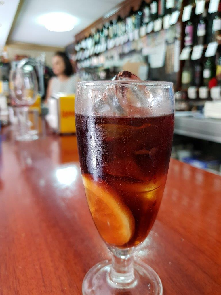 Red Vermouth on the rocks. Secret Food Tours Madrid, Spain