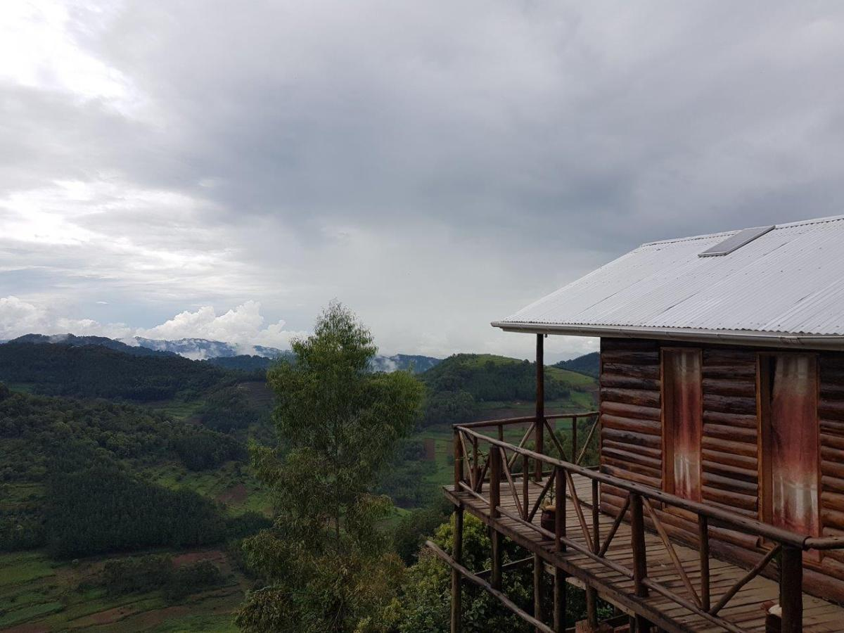 Our hut at Bakiga Lodge. Gorilla trekking in Bwindi. Ruhija, Uganda.
