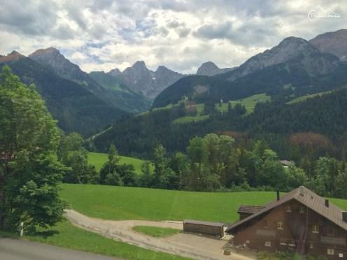 w pociągu do Gstaad