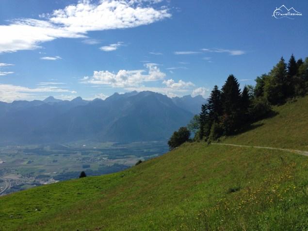 szlak z ROchers de Naye do Montreux