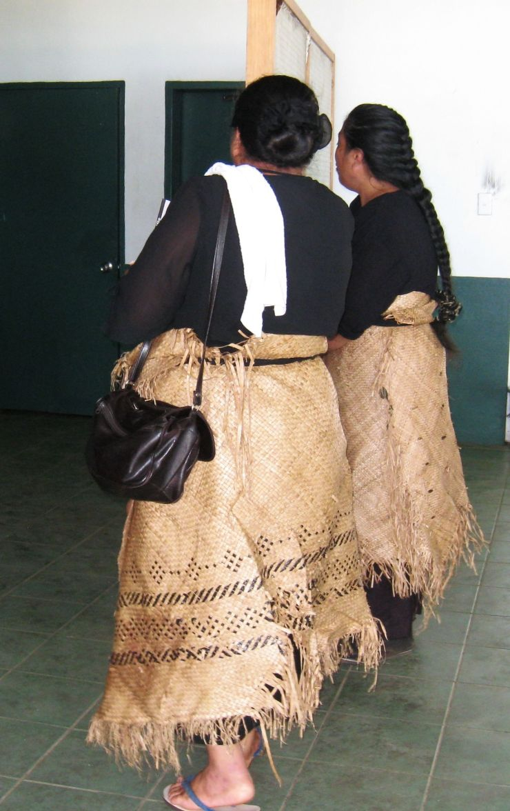Tongan Women in Ceremonial Dress