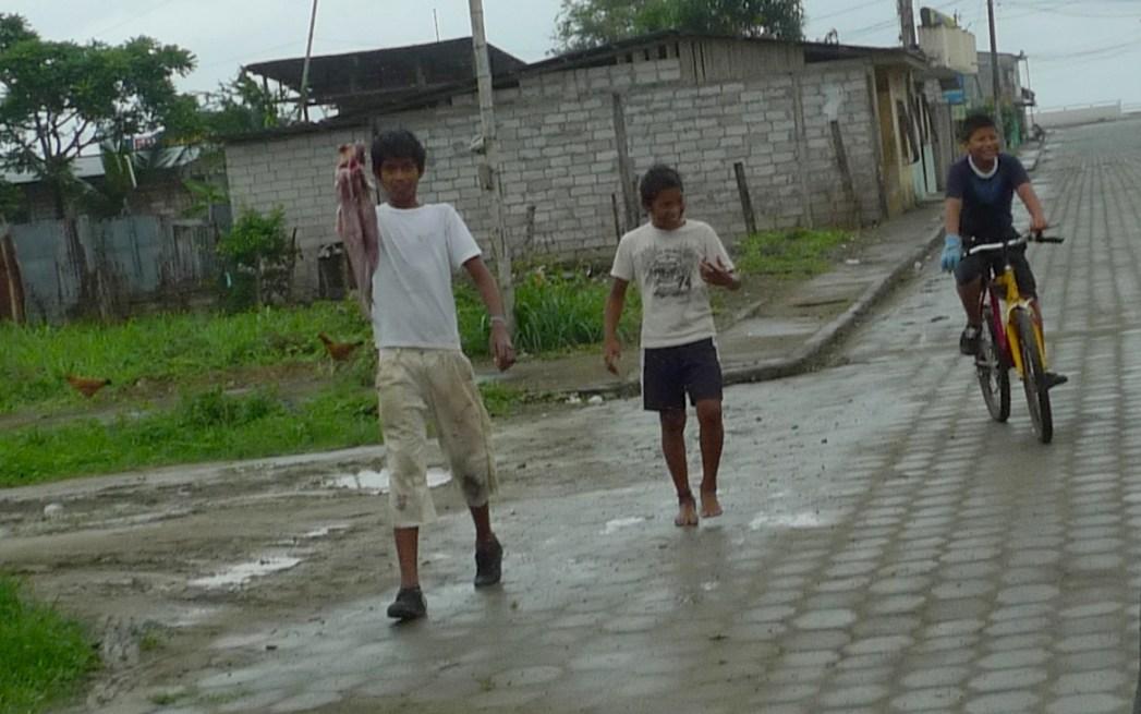 P1020241 Village, 3 Boys with Fish