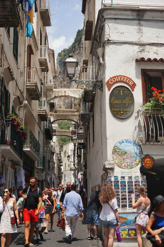 Het dorp Amalfi
