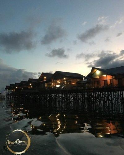 Temaram Malam di Kepulauan Derawan Kalimantan Timur