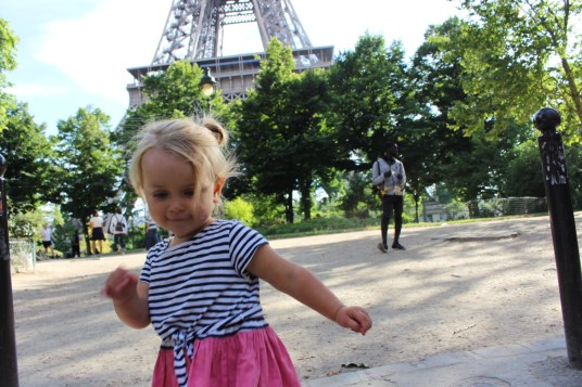 Paris with a toddler 3 the eiffel tower
