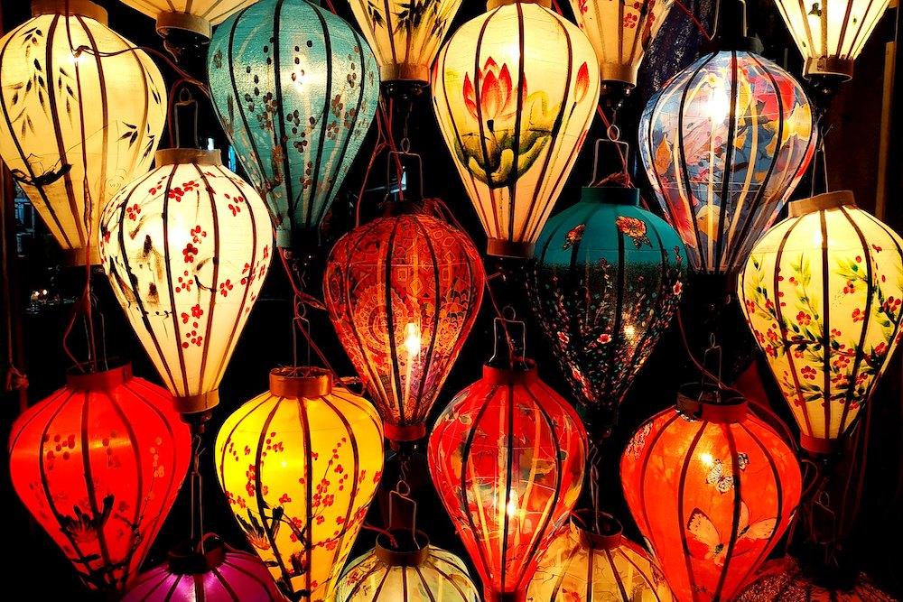 Gekleurde ballonnen Hoi An Vietnam