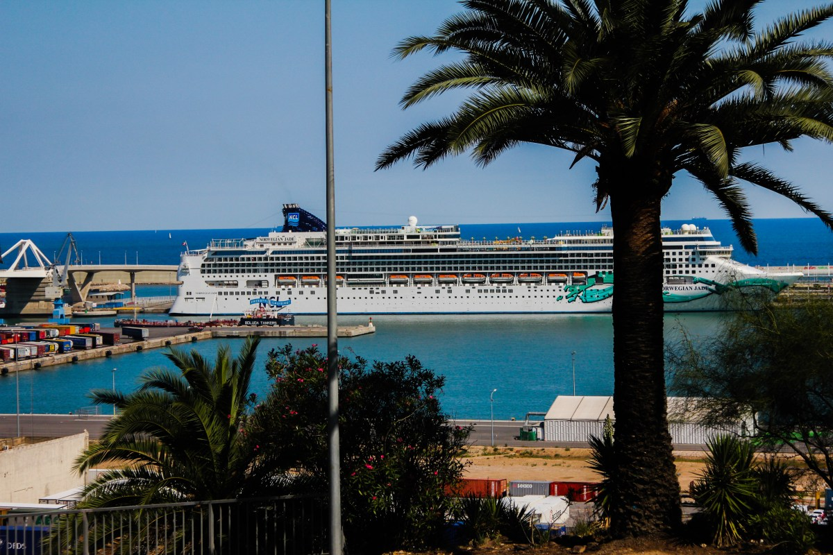 Cruise Ship Norwegian Jade in Barcelona Port