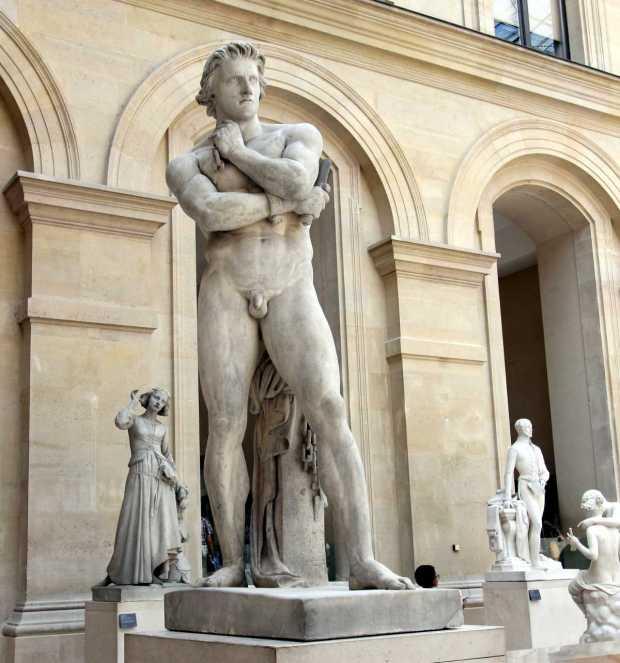 Denis Foyatier's Spartacus, Cour Puget, Louvre, Paris