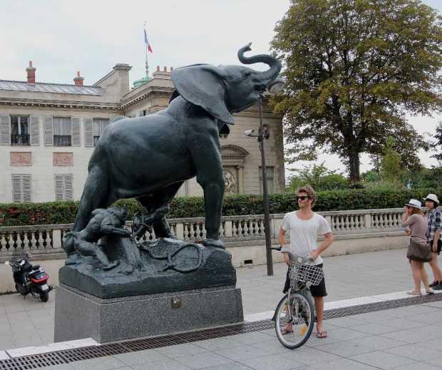 Frémiet's Elephant Statue outside the Musée d'Orsay, Paris