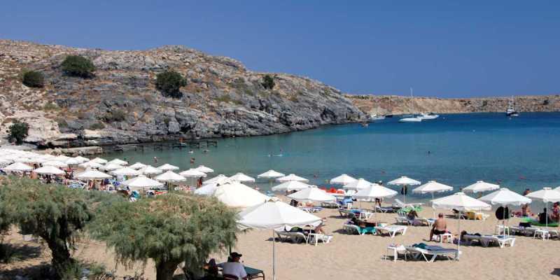 Lindos beach, Rhodes Greece