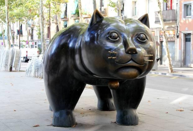 El gat del Raval (The Raval cat) by Botero, Ciutat Vella, Barcelona