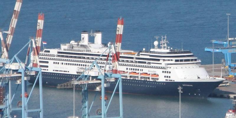 Cruise Ship Rotterdam on Mediterranean Cruise