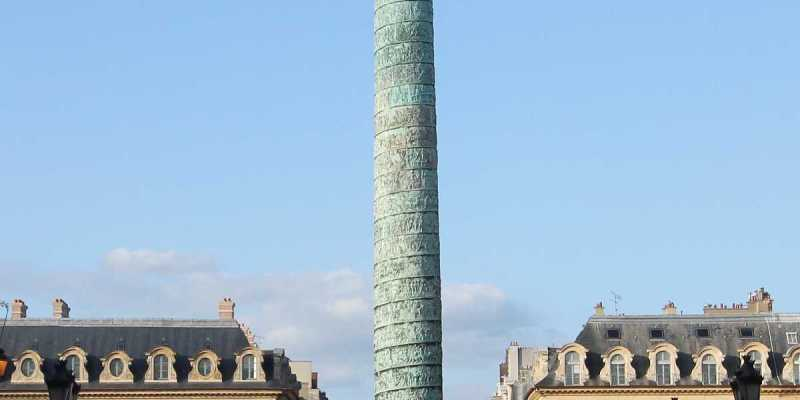 The Vendôme Column, Place Vendôme view from the Rue de la Paix, Paris