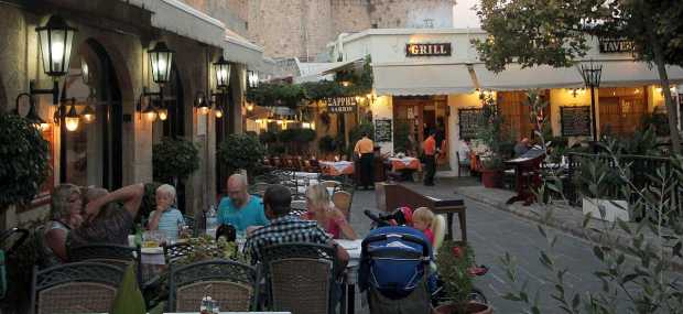 Old City Tavernas, Rhodes, Greece