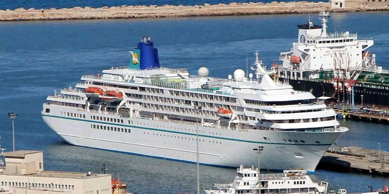 Cruise Ship Amadea on Mediterranean Cruise