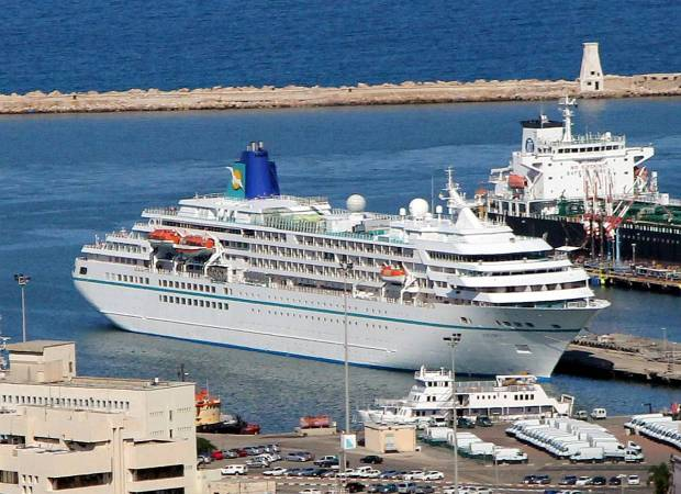 Cruise Ship Amadea on Mediterranean Cruise