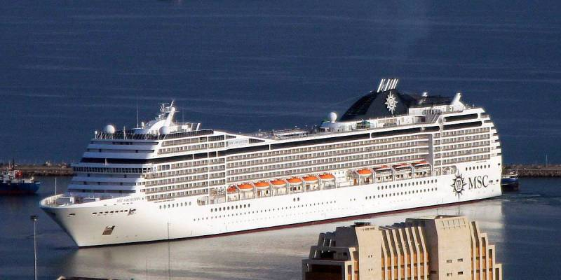 Cruise Ship MSC Orchestra Arrives to Haifa, Israel