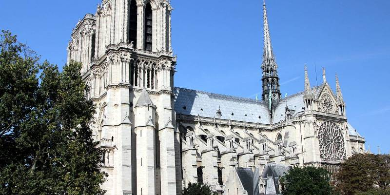 Notre Dame de Paris, View from the South