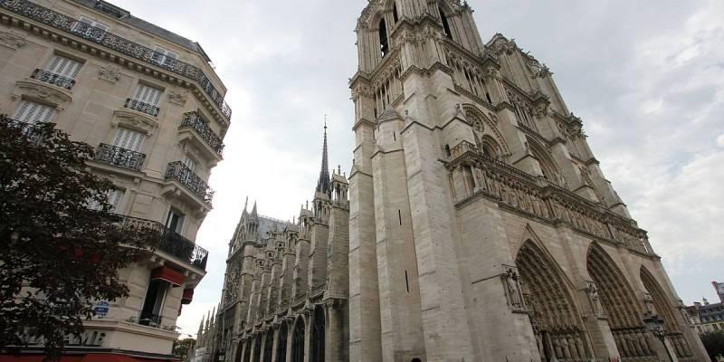 North-Western View of Notre Dame de Paris
