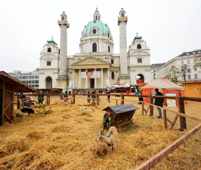 Christmas Market at the Karlskirche, Vienna