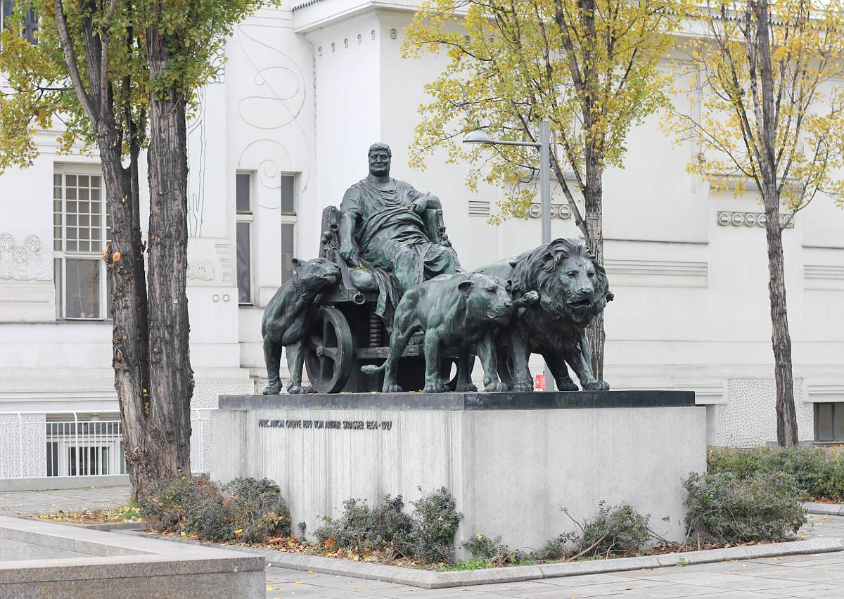 Mark Anthony Statue near the Secession Building at Vienna