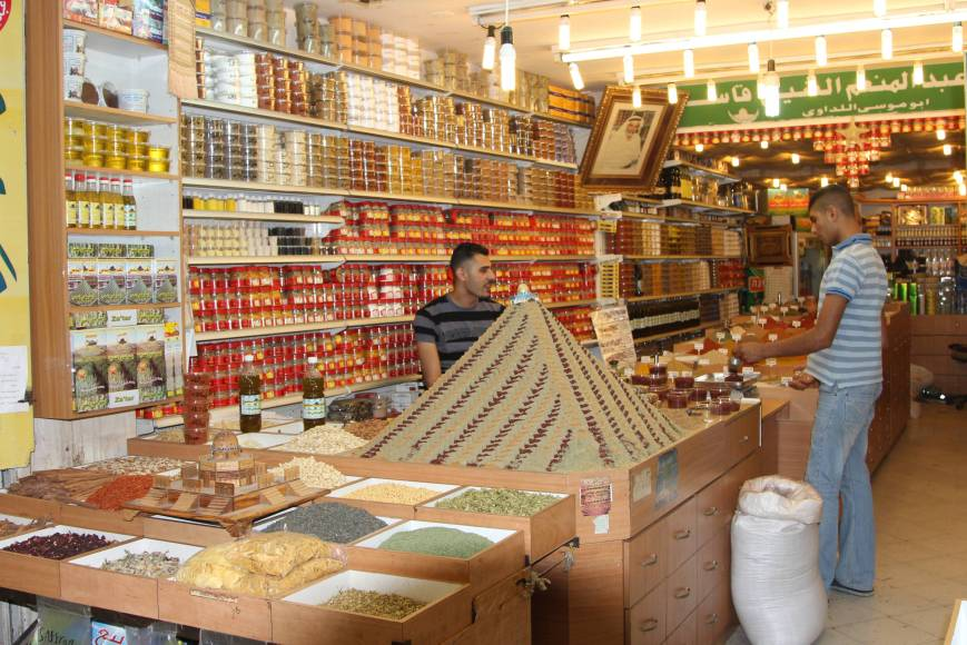 World of spices, Jerusalem: saffron, turmeric, ginger  and chili