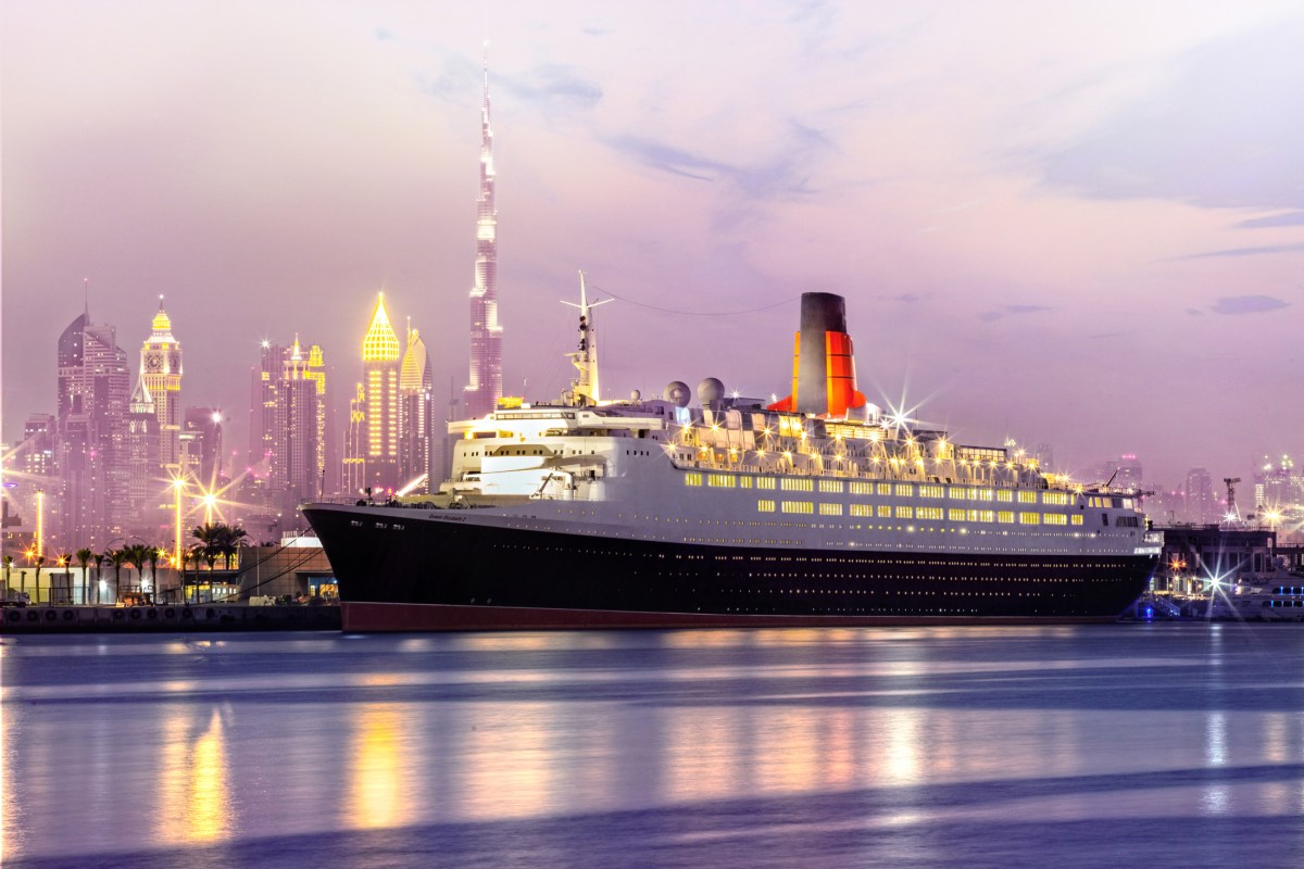 Queen Elizabeth 2 starting as a floating hotel, dining and entertainment destination in Dubai