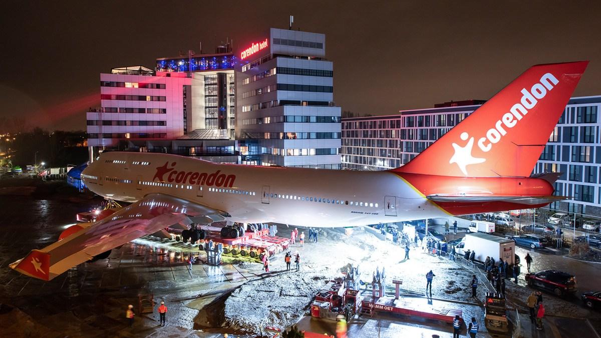 Corendon Boeing 747 has 'landed' in hotel garden (Corendon)