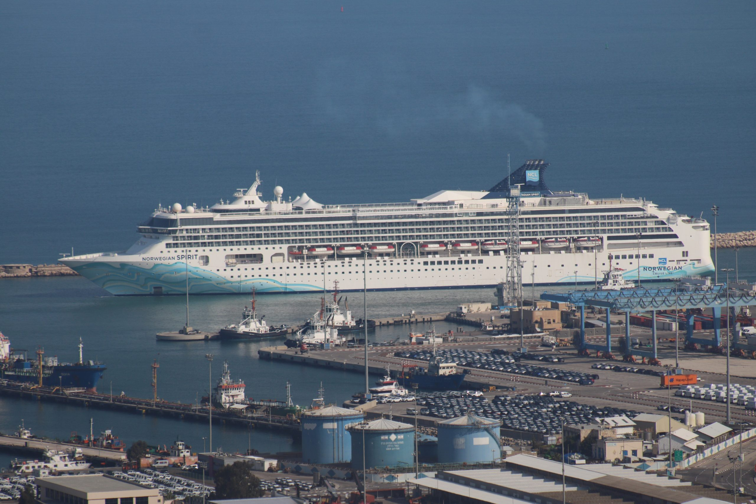 Cruise Ship Norwegian Spirit Embarks in Haifa Port