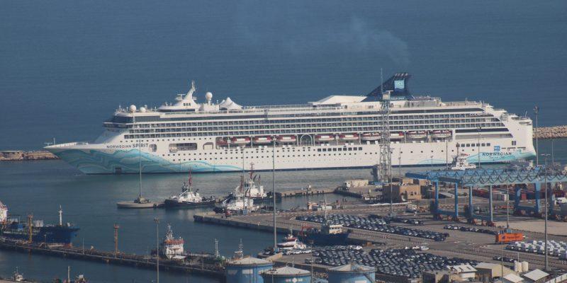 Cruise Ship Norwegian Spirit Embarks in Haifa Port