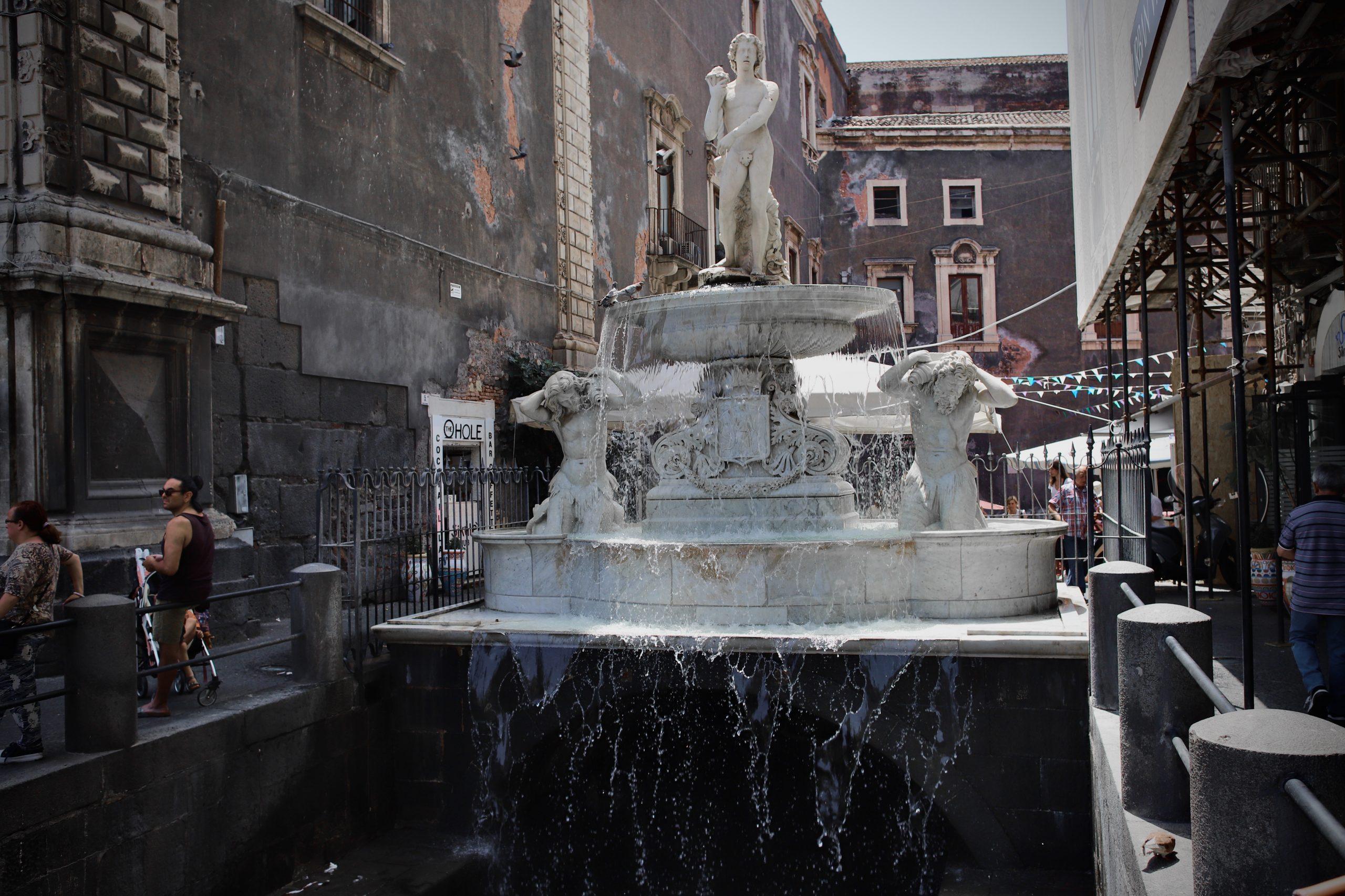 Fontana dell'Amenano, Catania, Sicily