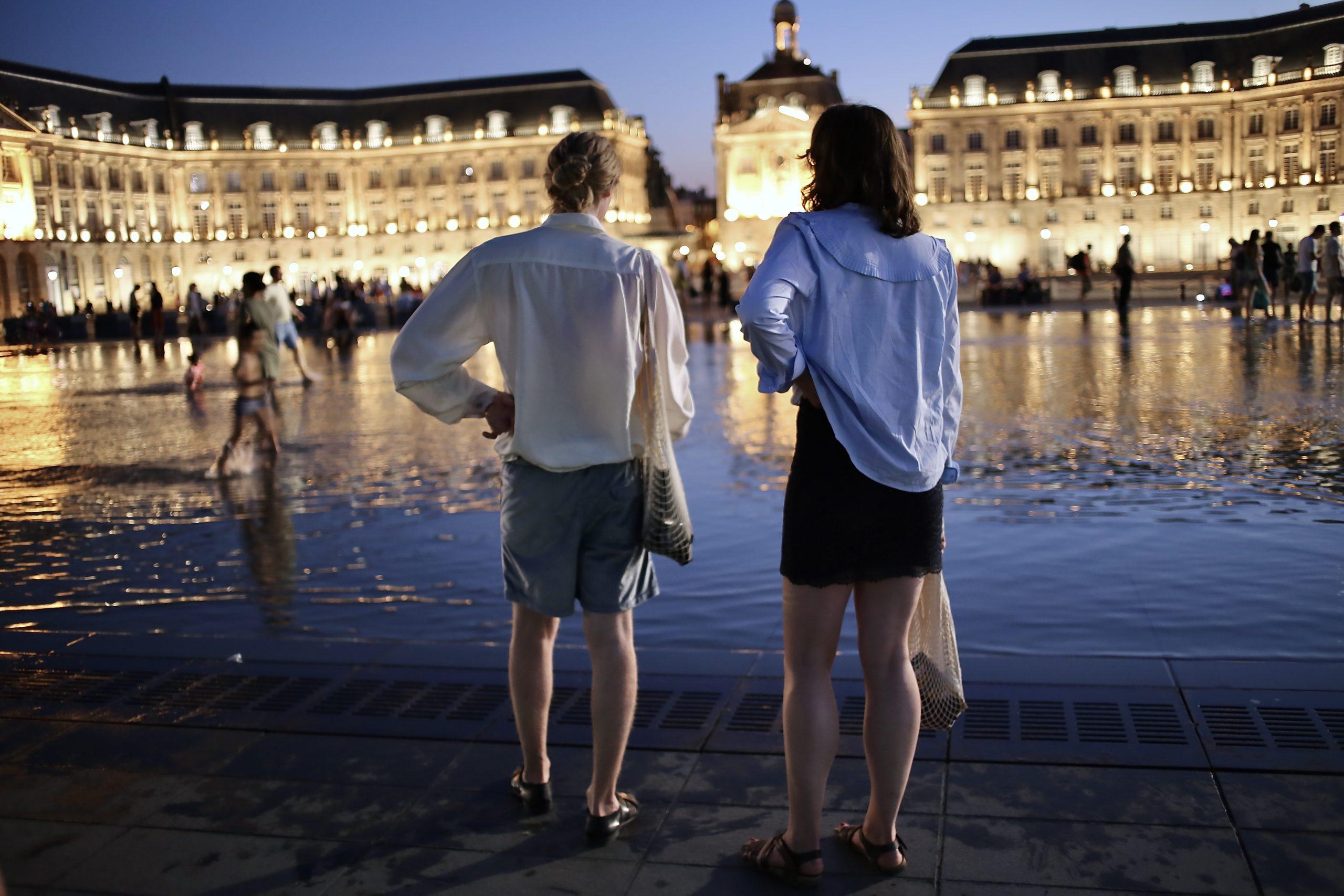 The Miroir d'eau in Bordeaux