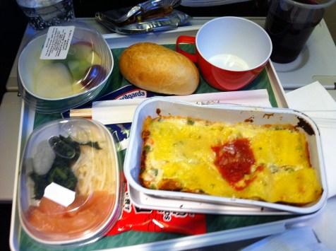 Tasty but light meal on Alitalia
