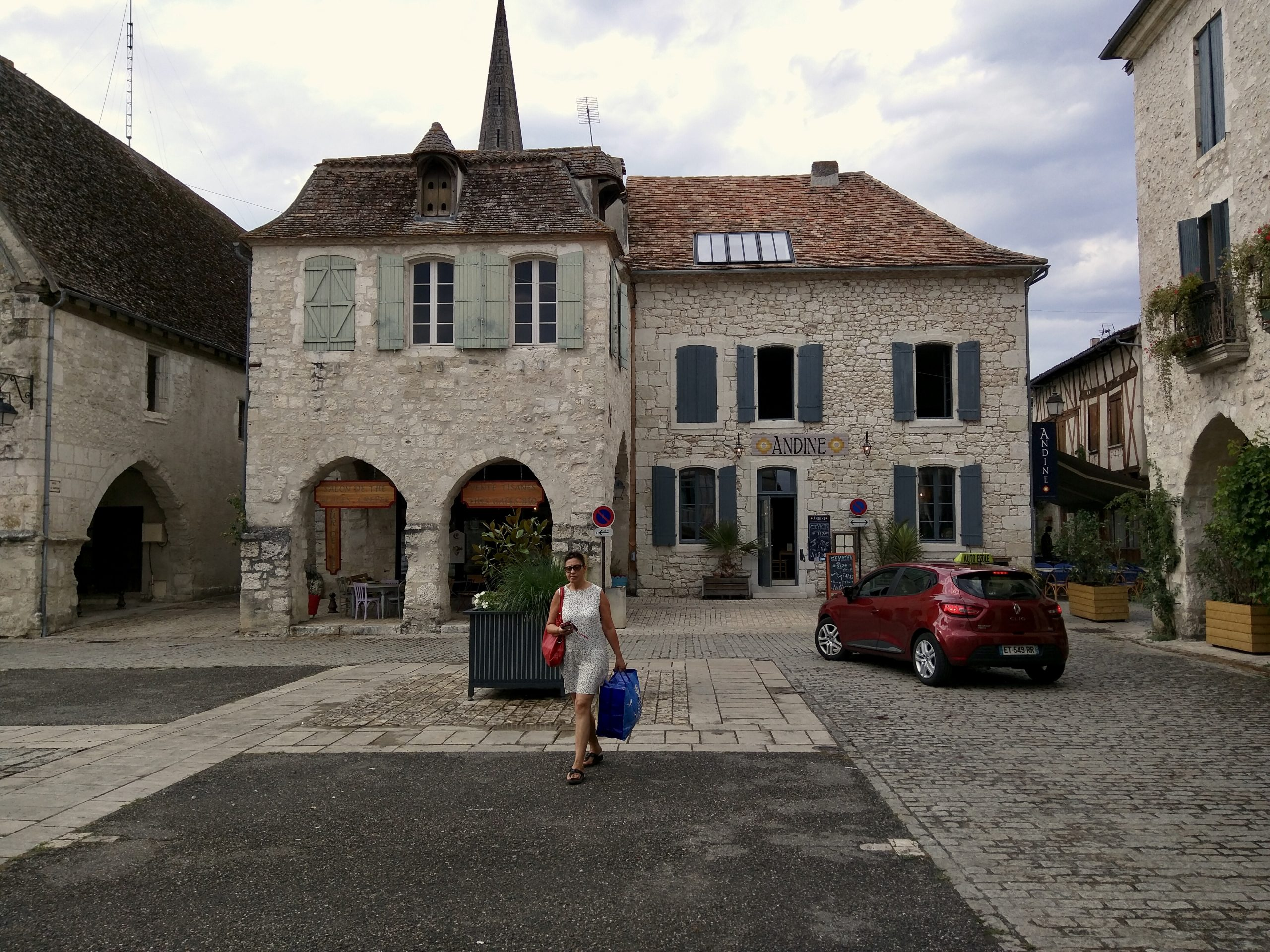Eymet, a charming village in the Perigord Purple region of south-west Dordogne province of France
