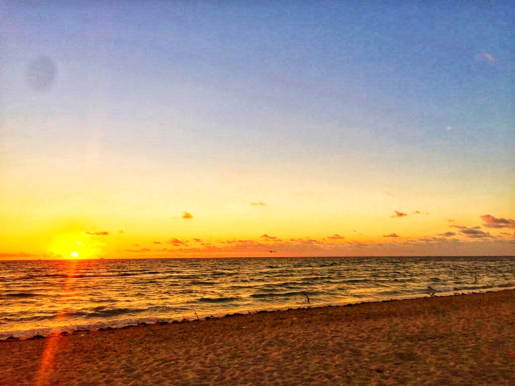 Florida south Miami beach sunrise