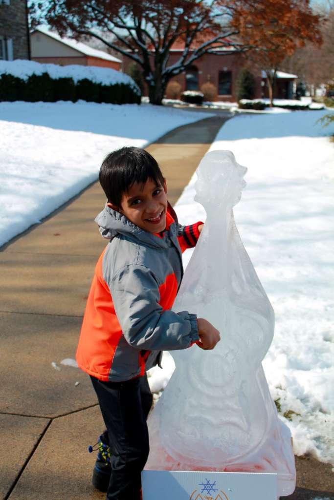 Lititz guitar ice sculpture