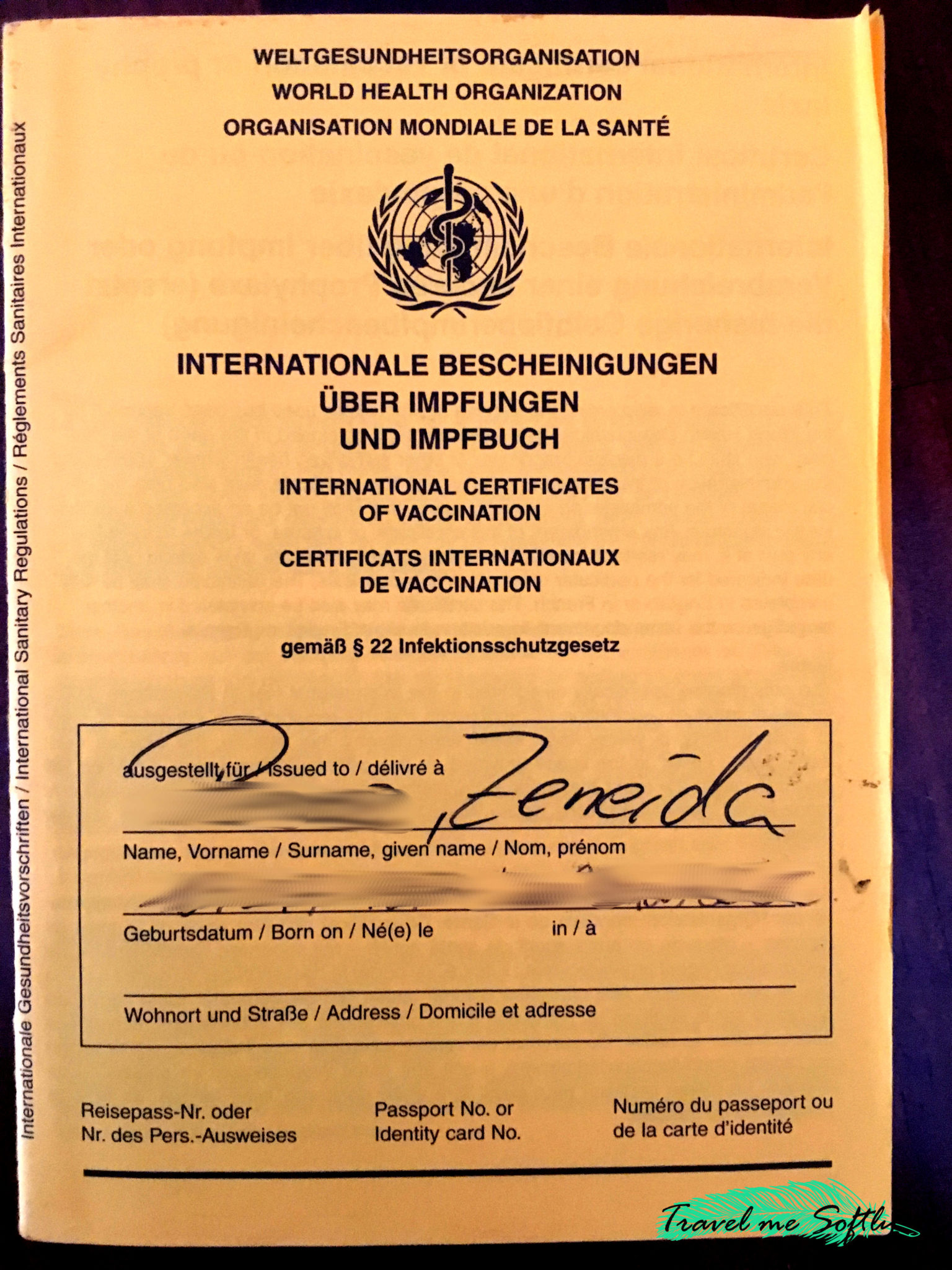 certificado internacional de vacunación Alemania