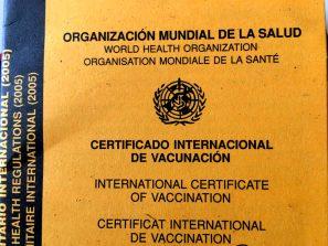 documentos para viajar vacunas