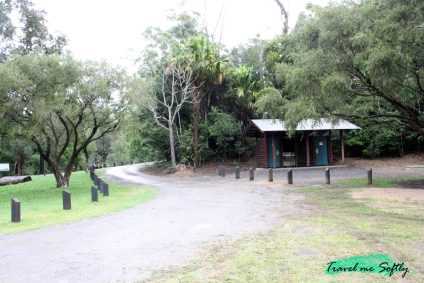 broken river bush camp entrada y aseos