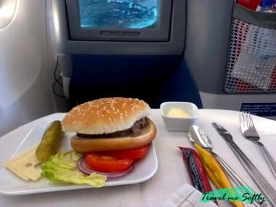 comida vuelo larga distancia